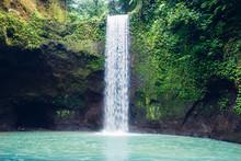 Tibumana Waterfall At Bali, In...