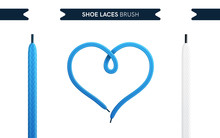 Shoe Laces Brush Set Isolated ...