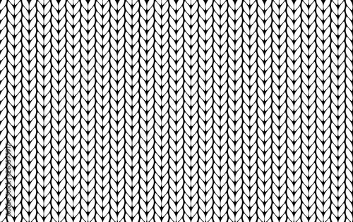 Deurstickers Kunstmatig Knitting vector pattern. Vector texture seamless pattern. White knit texture seamless pattern. Vector seamless background