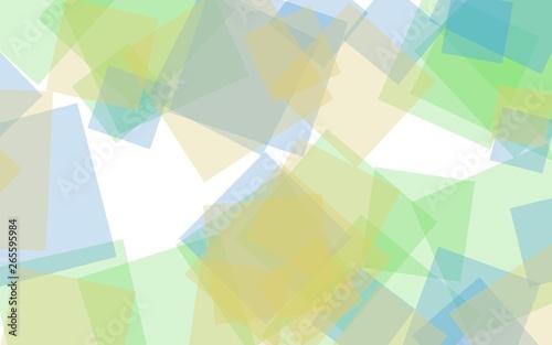 Multicolored translucent squares on white background. 3D illustration - 265595984