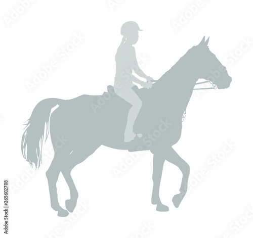 Photo Elegant jot racing horse in gallop vector silhouette isolated on white background