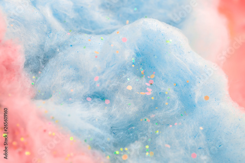 Texture of cotton candy, closeup