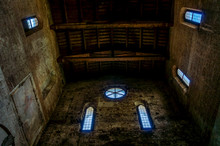Wooden Ceiling Of A Medieval C...
