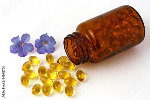 Fototapeta Linseed capsules obraz na płótnie