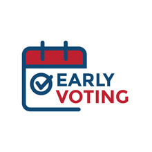 Early Voting Icon With Vote, I...