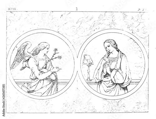 Virgin mary Wallpaper Mural