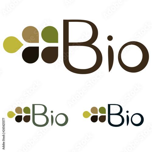Logotype pour société dans le bio Wallpaper Mural