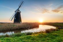 Halvergate Windmill On The Norfolk Broads
