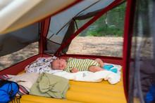 Little Boy Is Sleeping On His ...