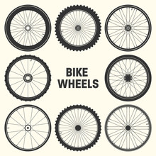 Bicycle Wheel Symbol Vector Il...