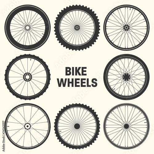 Bicycle wheel symbol vector illustration Fototapet