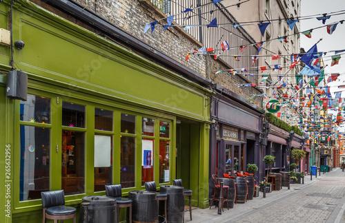 Street in Dublin, Ireland Canvas Print