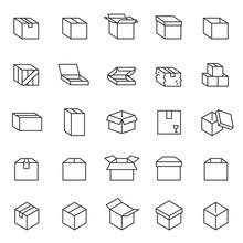 Box, Icon Set. Cardboard Packa...