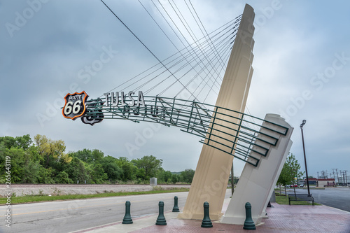 Photo  Route 66 sign, Tulsa Oklahoma