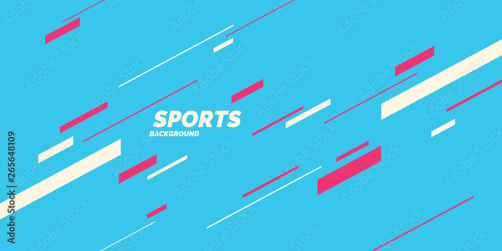 Fototapeta Modern colored poster for sports. Vector graphics