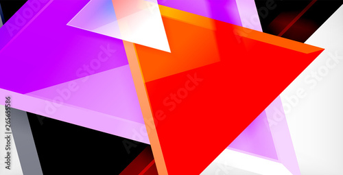 Fototapety, obrazy: Triangle abstract background
