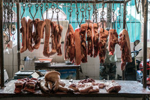 A Meat Counter In China