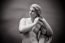White Marble Young Woman Isola...