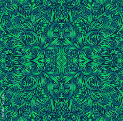 Photo  Shamanic fractal mandala texture