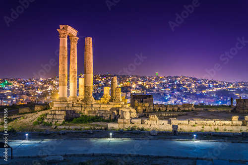 Temple of Hercules at Amman Citadel in Amman, Jordan. Canvas Print