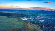 Drone Colorful Sunset Of Denve...