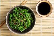 Wakame Seaweed Salad With Sesame And Chili Pepper