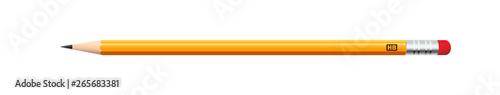 Карандаш желтого цвета в реалистичном стиле для различных веб сайтов Fototapet