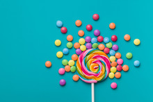 Sweet Lollipop And Colorful Ch...