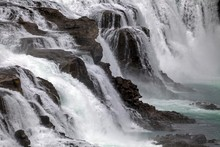 Waterfall, Gullfoss, Detail, Tourist Attractions, Golden Circle Route, Iceland, Europe