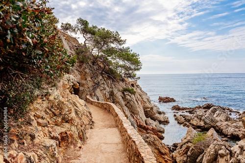 Cami de Ronda tourist track in Lloret de Mar Fototapeta