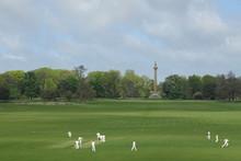 Cricketers At Holkham Hall, North Norfolk, England, UK