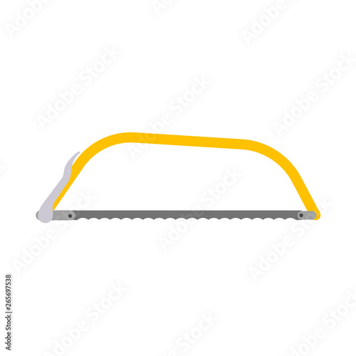 Hacksaw bow constructor tool vector equipment icon Canvas-taulu