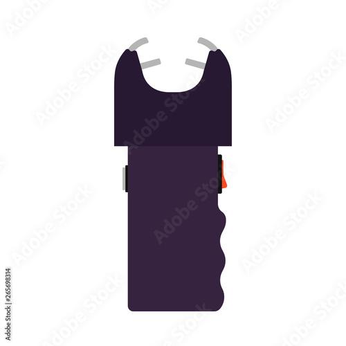 Vászonkép Taser security police law vector icon gun