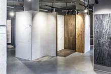 GRODNO, BELARUS - APRIL 2019: Interior Modern Ceramic Tile And Natural Stone Shop