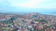 Smooth Aerial Trucking Shot of the Blue Mosque and Hagia Sophia