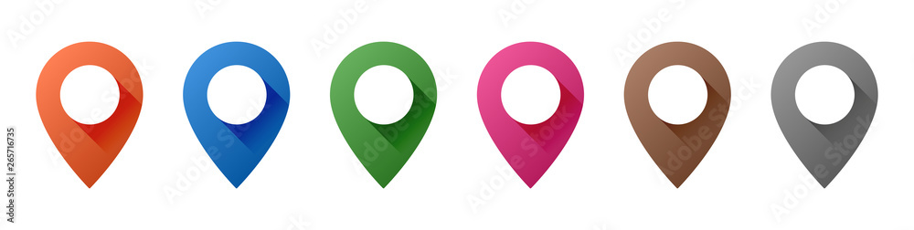 Fototapeta Map Pin Icons