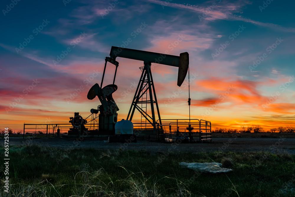 Fototapety, obrazy: Pumpjack Sunrise