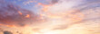 Leinwanddruck Bild - Background of colorful sky concept: Dramatic sunset with twilight color sky and clouds
