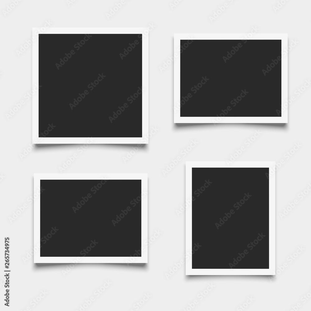 Fototapety, obrazy: Set of empty photo frames on white background