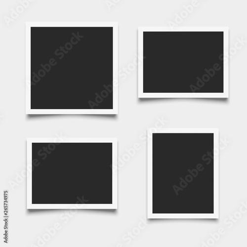 Obraz Set of empty photo frames on white background - fototapety do salonu