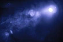 Blue Color Smoke Texture , Spo...