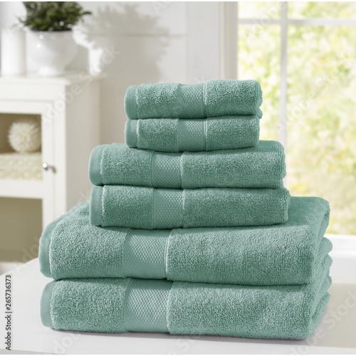 Cuadros en Lienzo Cotton terry towel set. Dobby border towel set