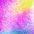 canvas print picture - Rainbow Splatter