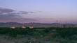 Skyline in desert at dusk