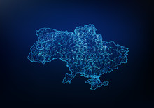 Abstract Of Ukraine Map Networ...