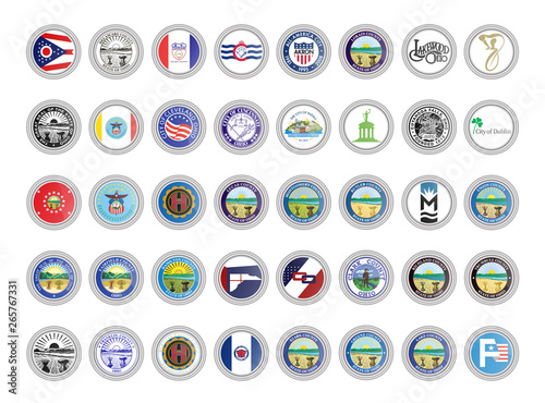Photo  Set of vector icons