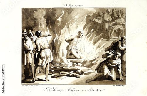 Cuadros en Lienzo Christian illustration. Old image