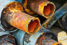 Closeup Of Stack Of Corroded S...