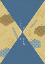 Japanese Pattern Vector. Geometric Background Template.
