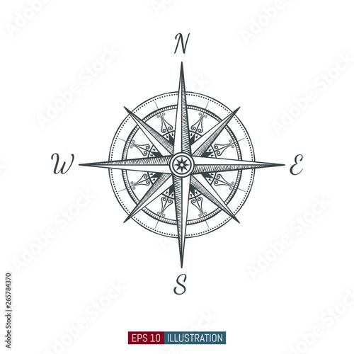 Valokuva  Hand drawn compass